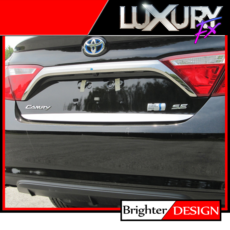 1p steel 1 1 2 39 trunk lid accent trim fits 2015 2017 toyota camry by luxury fx ebay. Black Bedroom Furniture Sets. Home Design Ideas