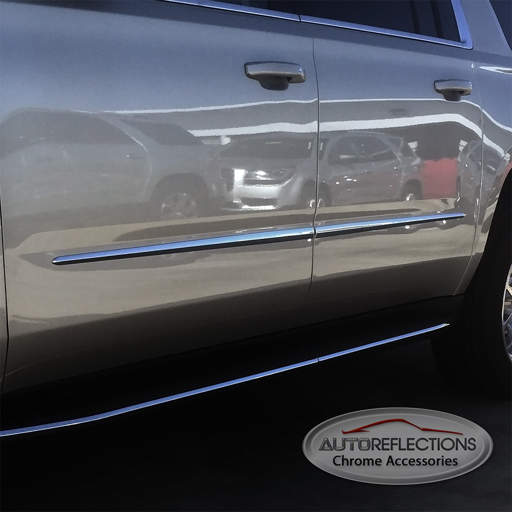 Gmc Canyon Extended Cab Chrome Body Side Molding 2015: Body Side Moldings To Fit 2015-2017 GMC Yukon XL SUV: SLT