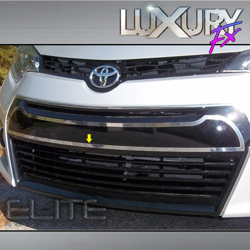 stainless front bumper trim fit for 2014 16 toyota corolla 4d luxfx1985 ebay. Black Bedroom Furniture Sets. Home Design Ideas