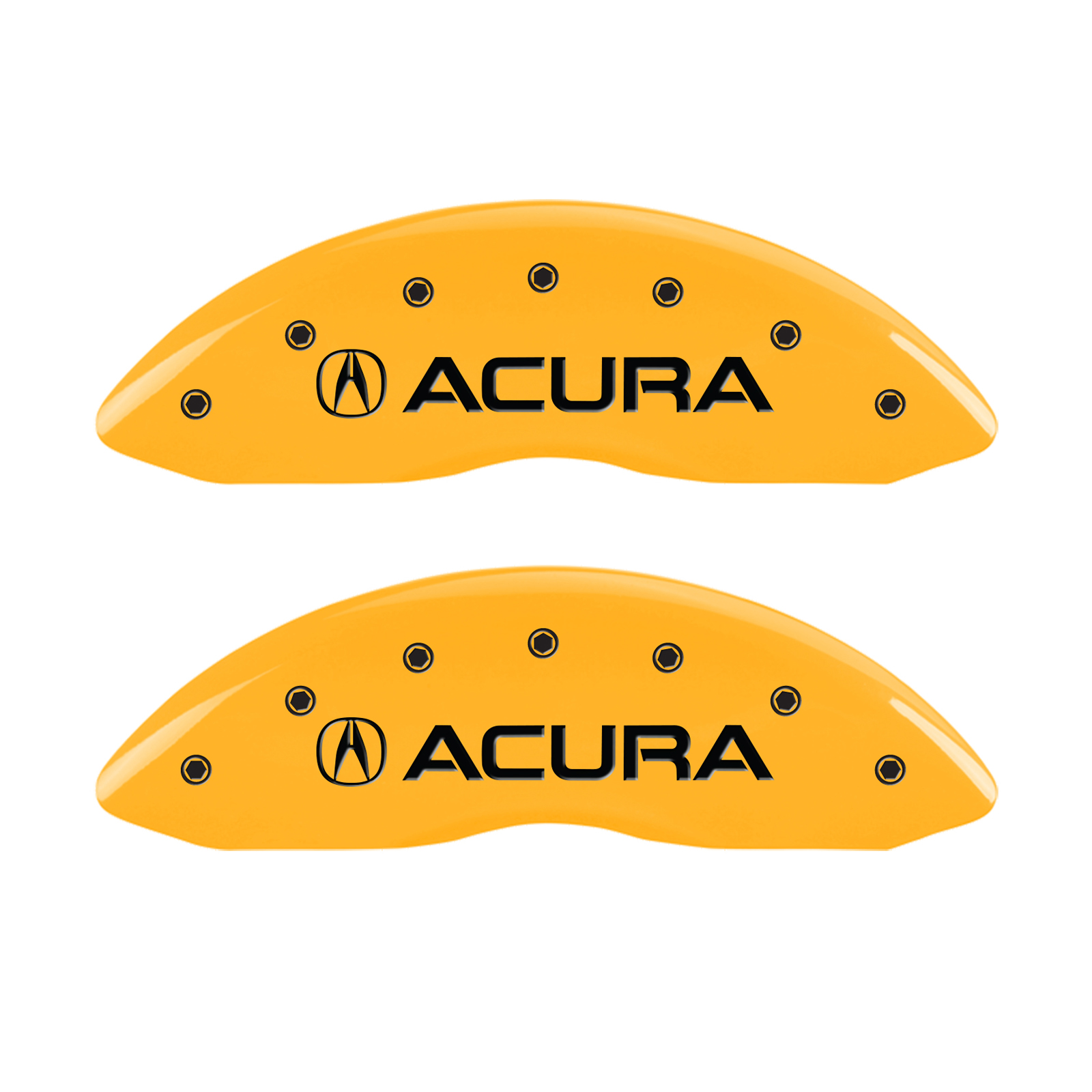 Set of 4 Blk MGP Caliper Covers with Acura//MDX logo fits 2017-2019 Acura MDX