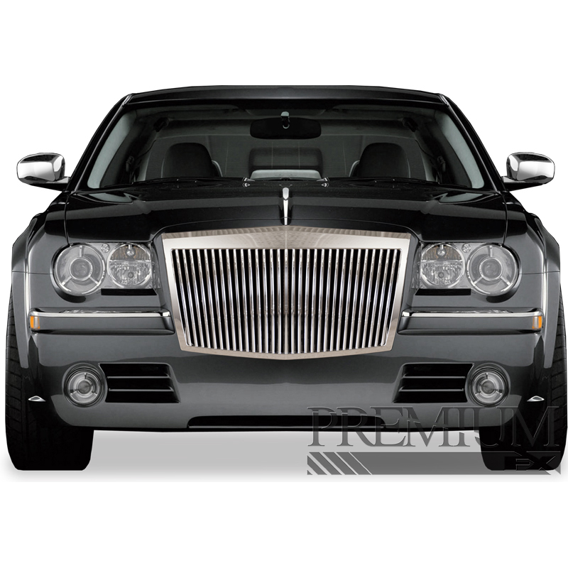 premium fx chrome rolls royce style replacement grille for 2005 10 chrysler 300 ebay. Black Bedroom Furniture Sets. Home Design Ideas
