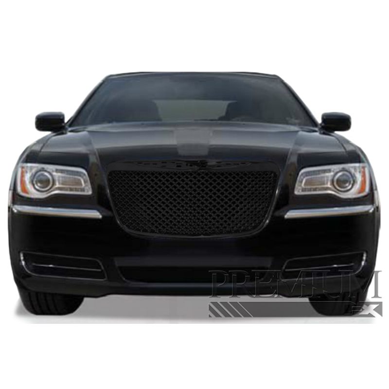 2011 Chrysler Dodge 300 300c Parts Manual: Premium FX Black ABS Mesh Replacement Grille For 2011-2012