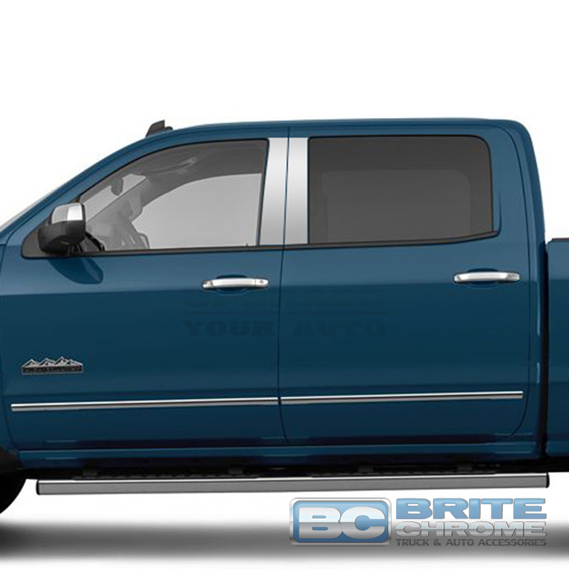Chrome Pillar Post Covers For 2014-16 Chevy Silverado 1500