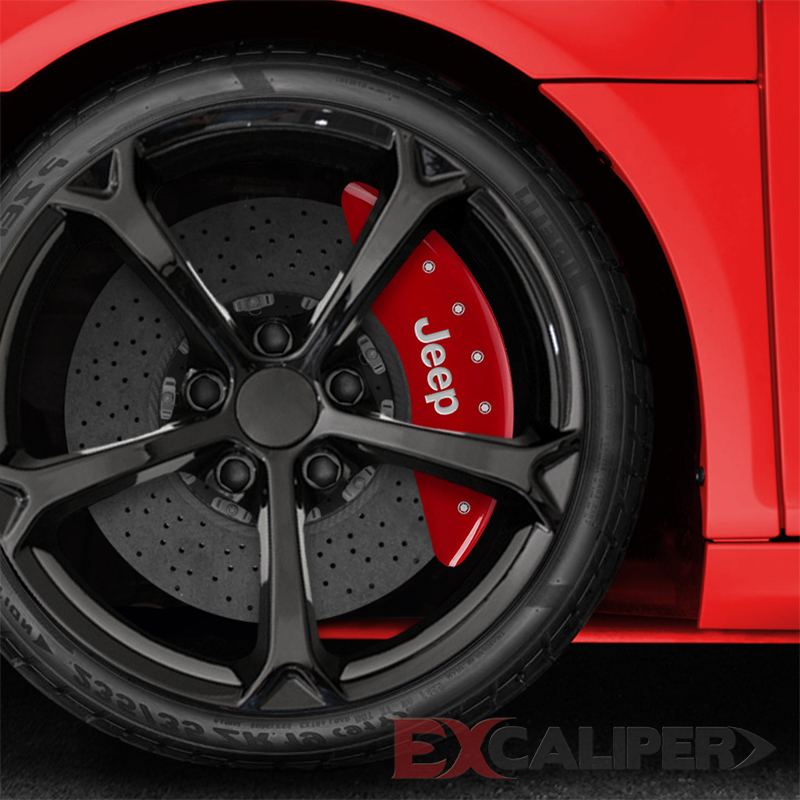 Excaliper Red Caliper Covers For 2014 2017 Jeep Cherokee
