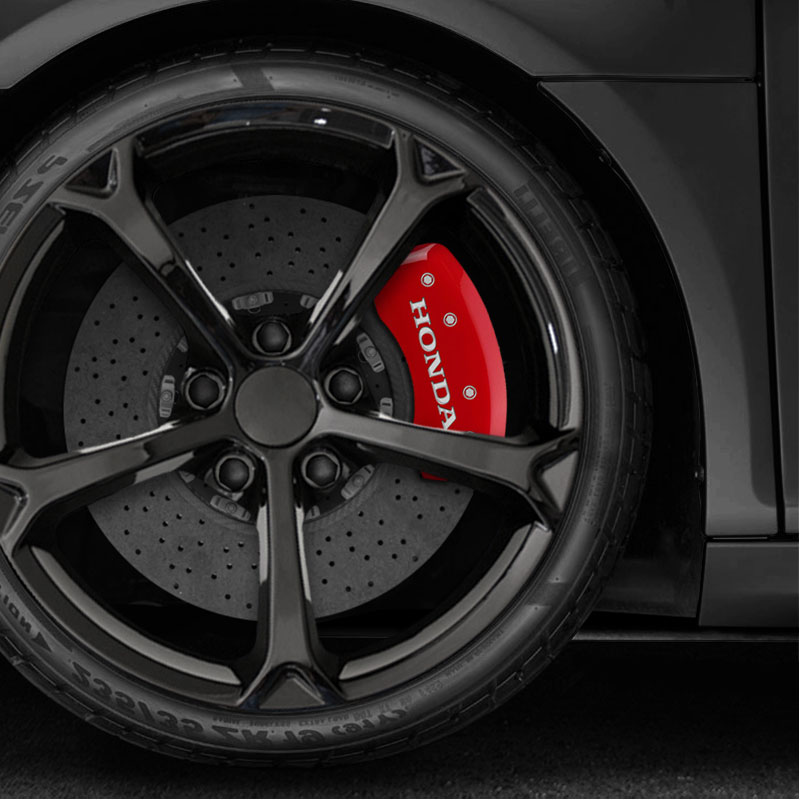 Red Caliper Covers Set Of 4 Engraved 'Honda' For 2018-2019