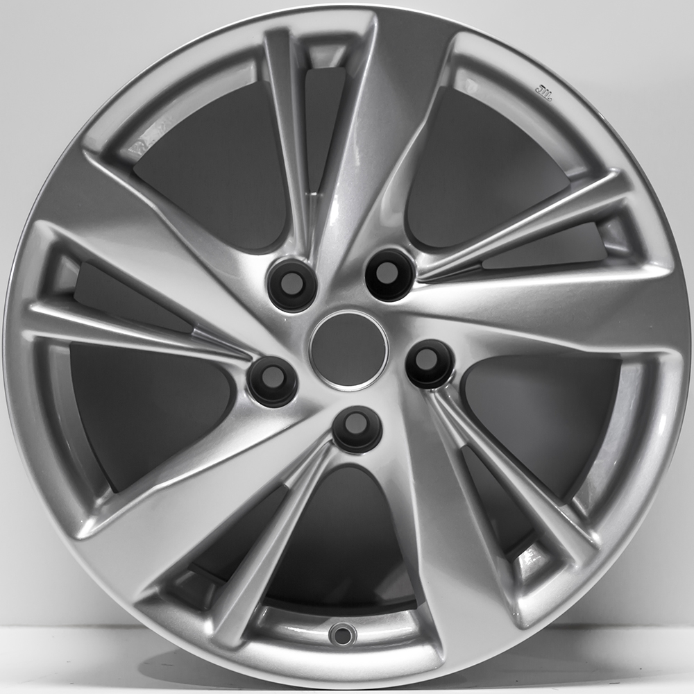 """17"""" Polished Silver Rim By JTE For 2013-2015 Nissan Altima"""