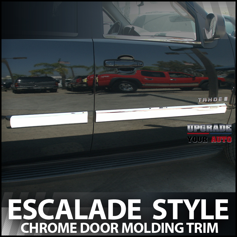 2010 2014 chevy tahoe chrome door molding trim ebay. Black Bedroom Furniture Sets. Home Design Ideas