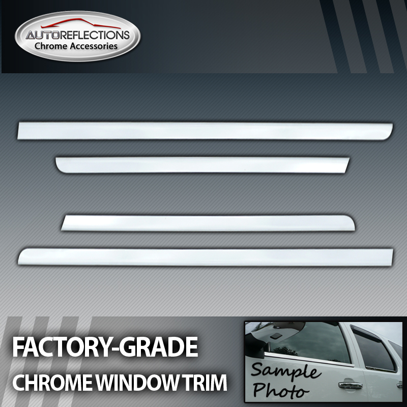 1997 2003 Ford F150 Super Crew 4pc Chrome Window Trim Ebay