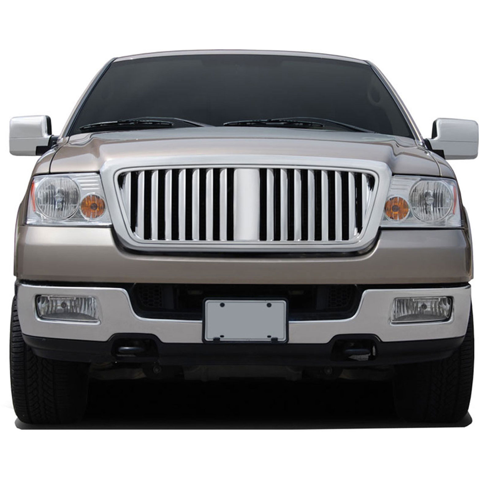 premium fx chrome lincoln mark lt style replacement grille. Black Bedroom Furniture Sets. Home Design Ideas