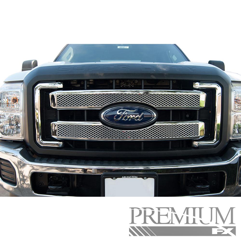 Grille Platinum: Premium FX Platinum Style Chrome Tape-On Grille Overlay