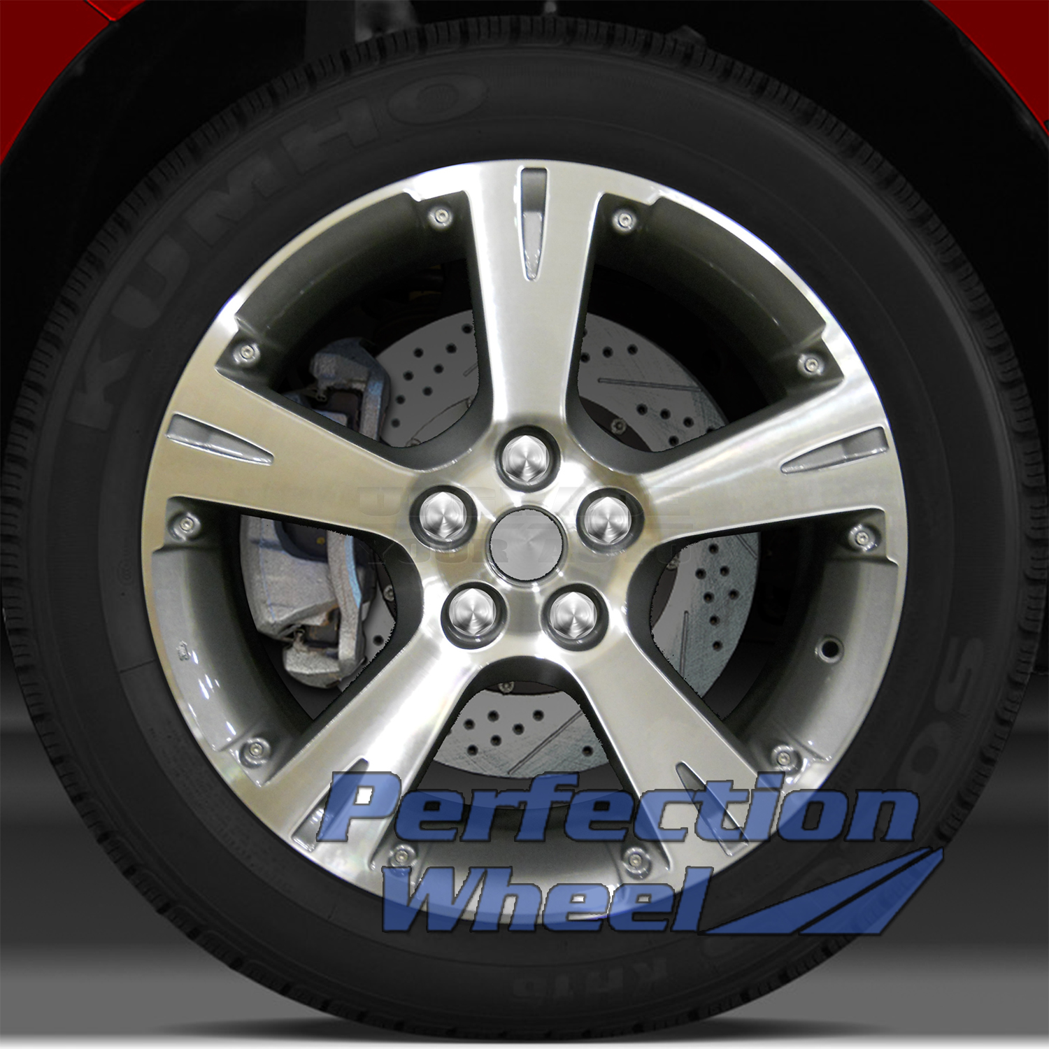 2008 2010 pontiac vibe 18x7 factory wheel medium metallic. Black Bedroom Furniture Sets. Home Design Ideas