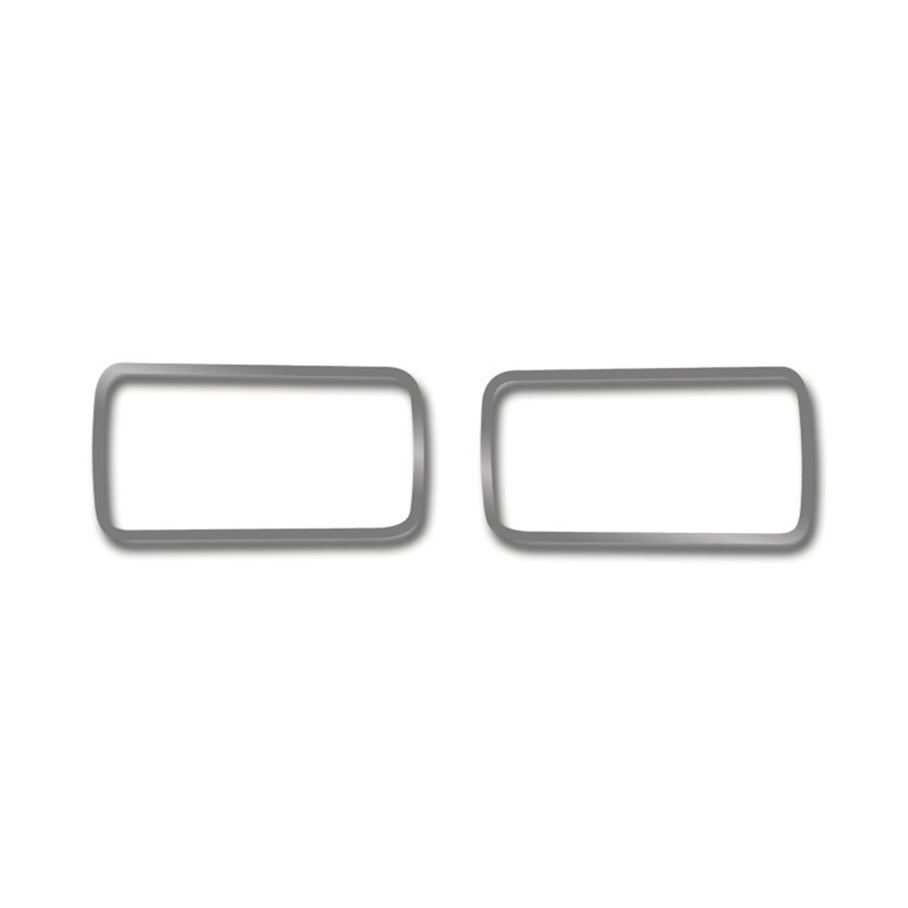Stainless//Brushed Door Arm Control Trim 2p for 2008-2014 Dodge Challenger SRT8