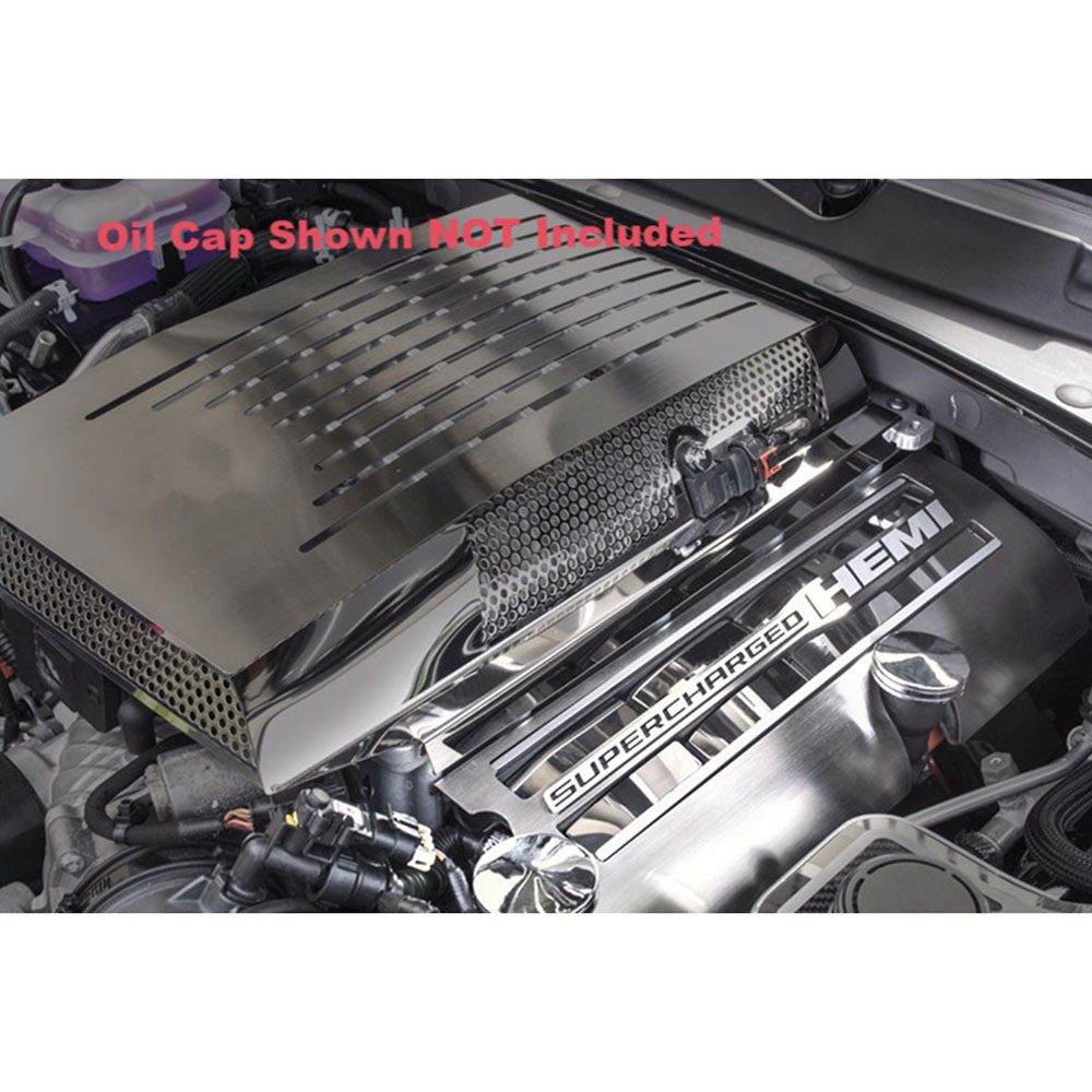 Upgrade Your Auto Stainless Steel Fuel Rail Covers for 2015-2017 Dodge Challenger Hellcat