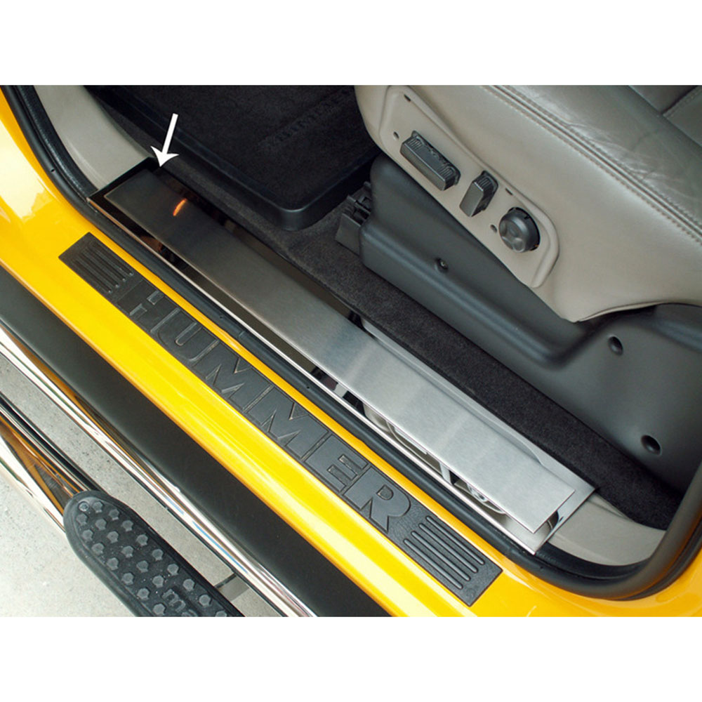 2007 Hummer H2 Exterior: Front Door Sill Trim Kit Brushed Insert For 2003-2007