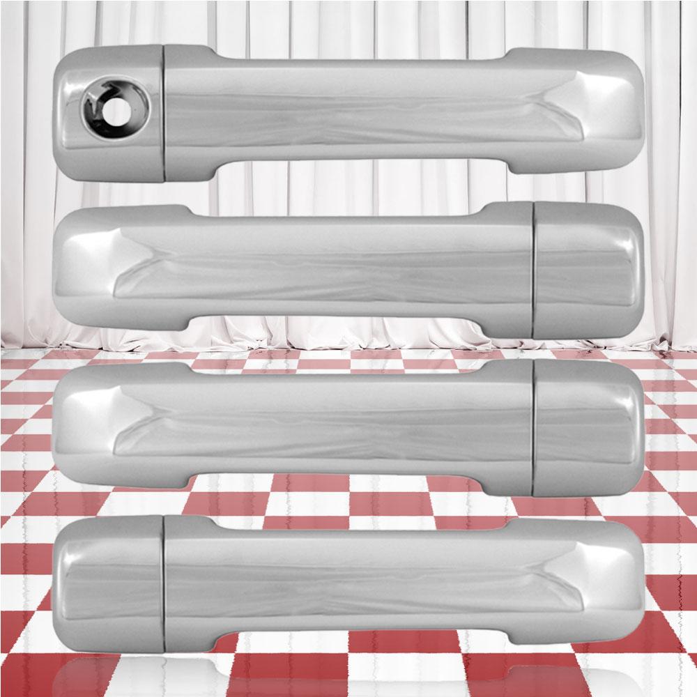 Plastic Chrome Door Handle Covers No Passenger Keyhole Fits 2007-2015 Toyota Tundra Double Cab