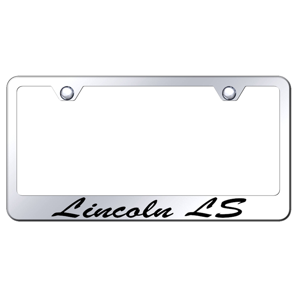Licensed Mirrored License Plate Frame w/Lincoln LS Script - AUGD6765 ...