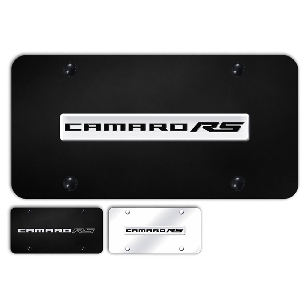 Officially Licensed Cadillac ATS Laser Etched on Black License Plate