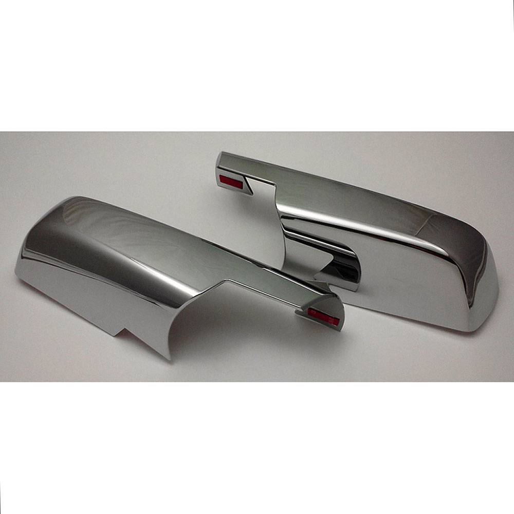 AAL For SILVERADO+SIERRA 2014-2018 Chrome Covers Half Mirrors+4 Doors+Tailgate
