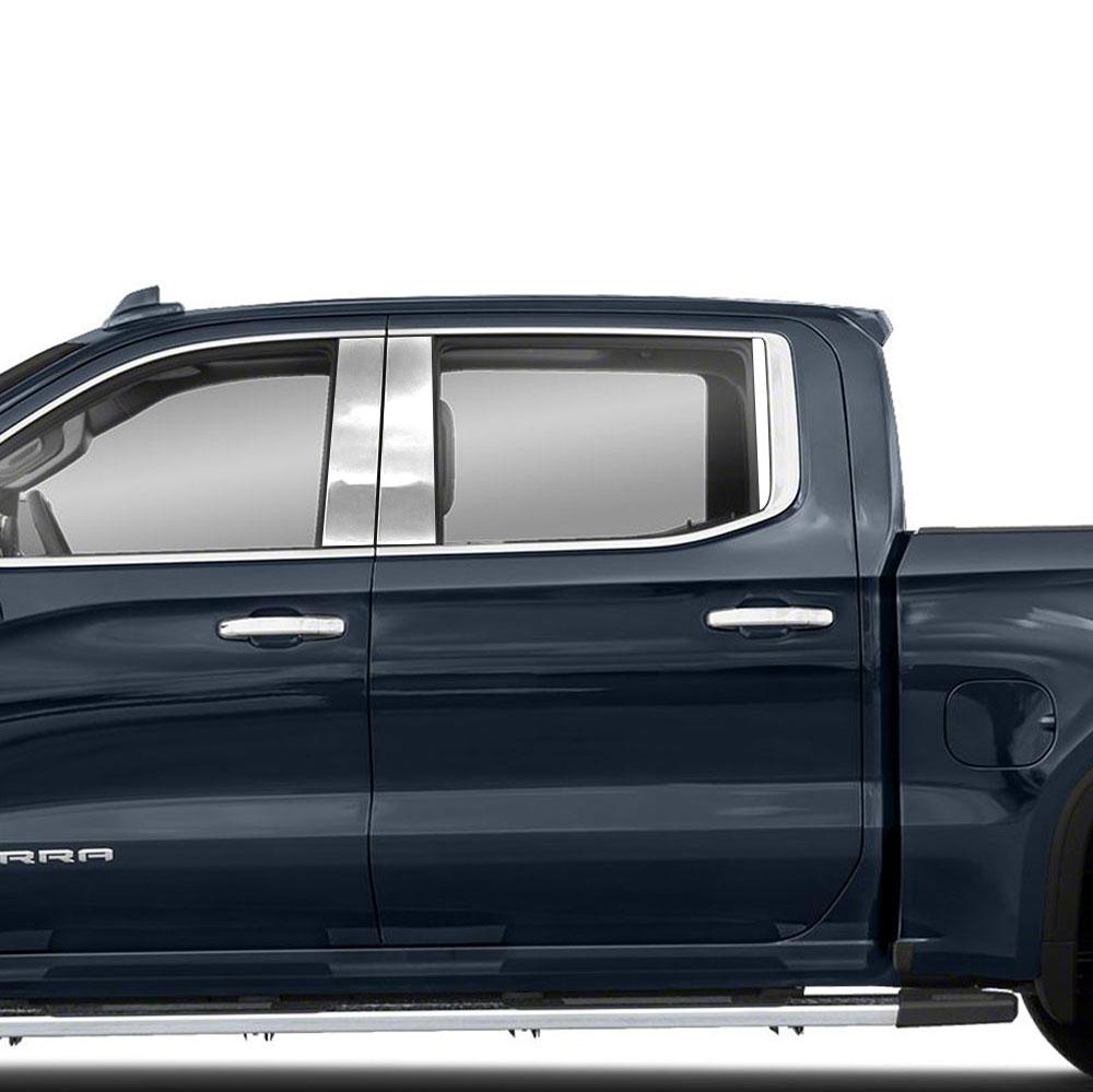 Luxury FX Window Sill Trim Set for 2019-20 Chevy Silverado 1500 Double Cab 6pc