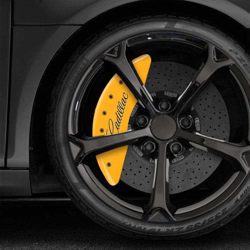 Yellow MGP Caliper Covers W/Cadillac/XTS Fits 2013-2017