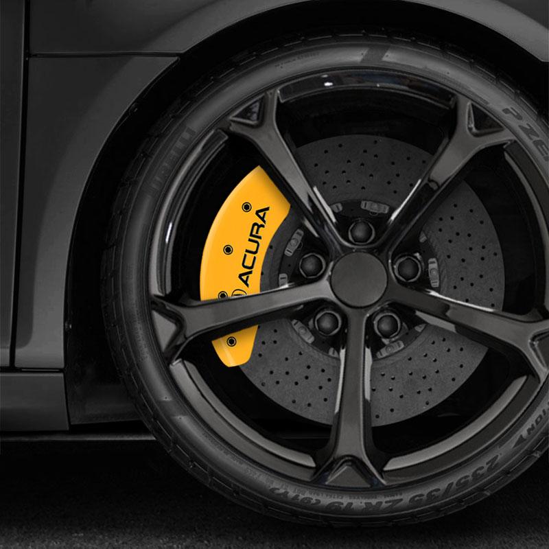 Set Of 4 Yellow MGP Caliper Covers W/Acura/ILX Logo Fits