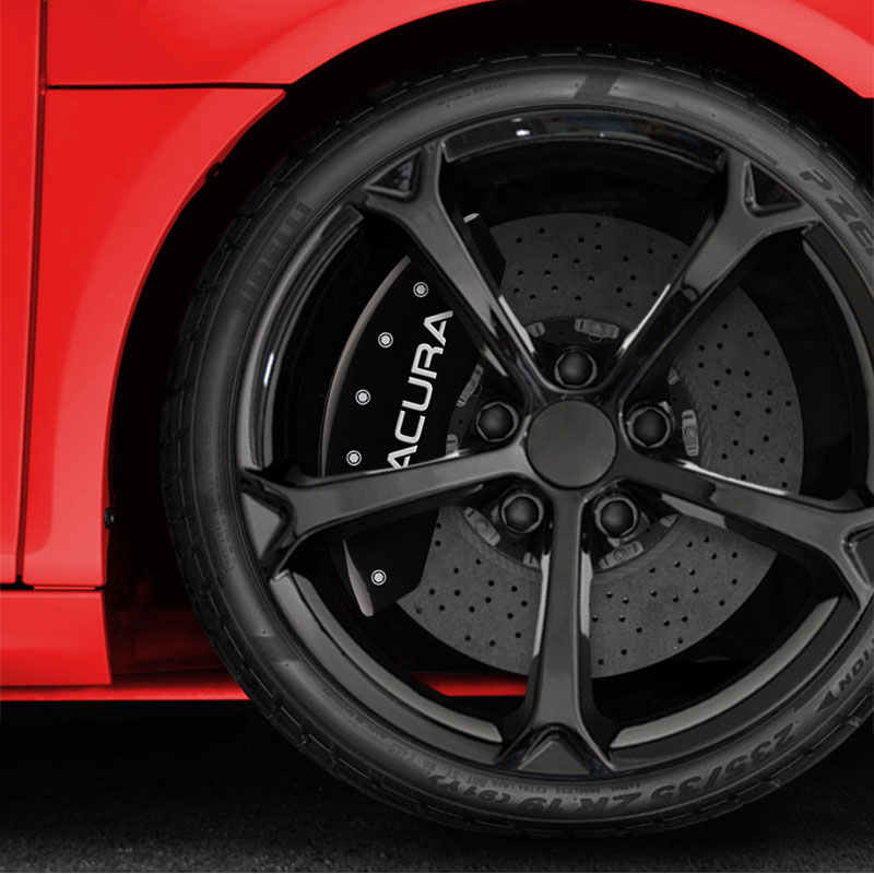 Front And Rear Gloss Black Caliper Covers W/Acura For 2019