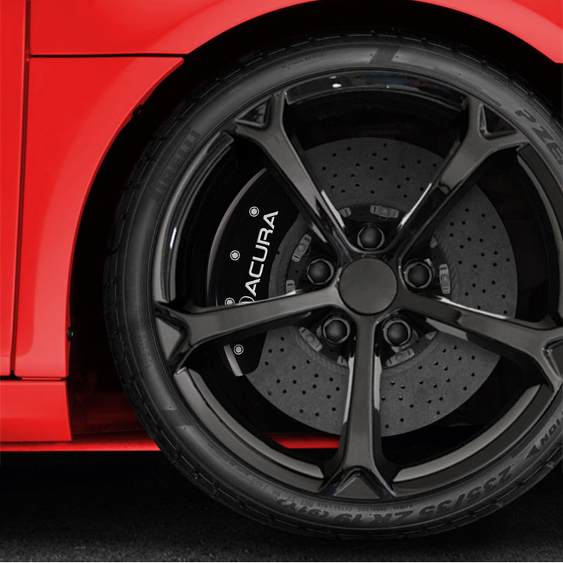 Front And Rear Gloss Black Caliper Covers W/Acura/RDX For