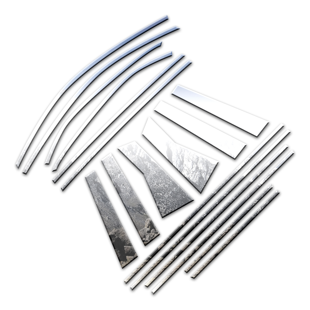 18p Luxury FX Chrome Window Package (w/Posts & Sill) Fit