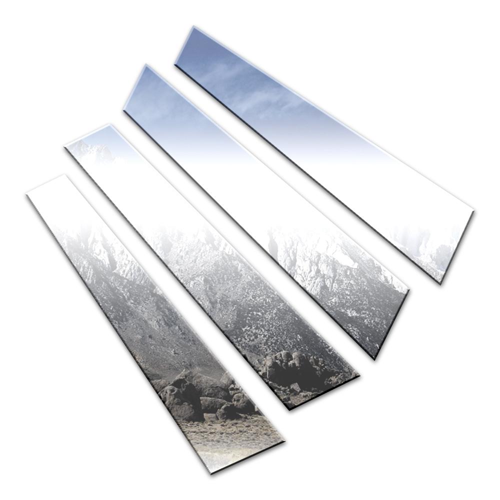 4p Stainless Steel Pillar Post Trim Fits 2013-2019 Acura