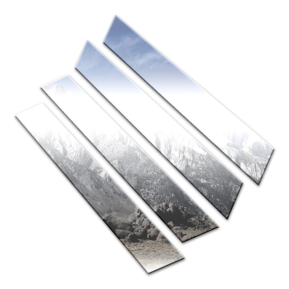 4p Stainless Steel Pillar Post Trim Fits 2013-2017 Acura