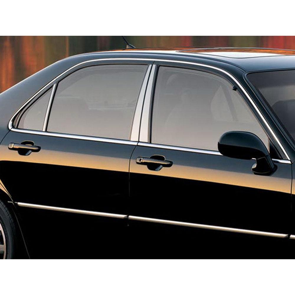 6p Stainless Steel Pillar Post Trim Fits 1996-2001 Acura
