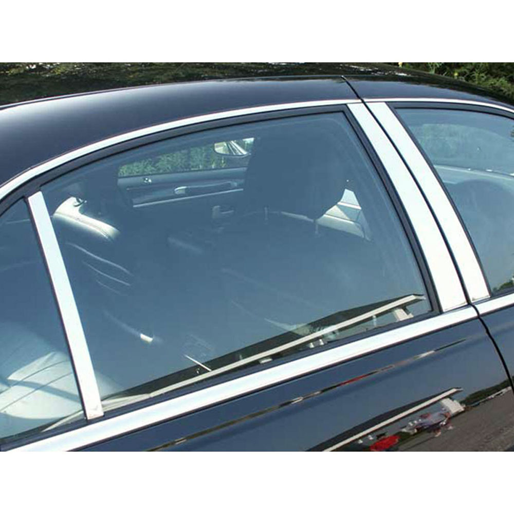1998 Lincoln Town Car Interior: Chrome Pillar Post Set 6 Pc Kit (fits: 1998-2011 Lincoln