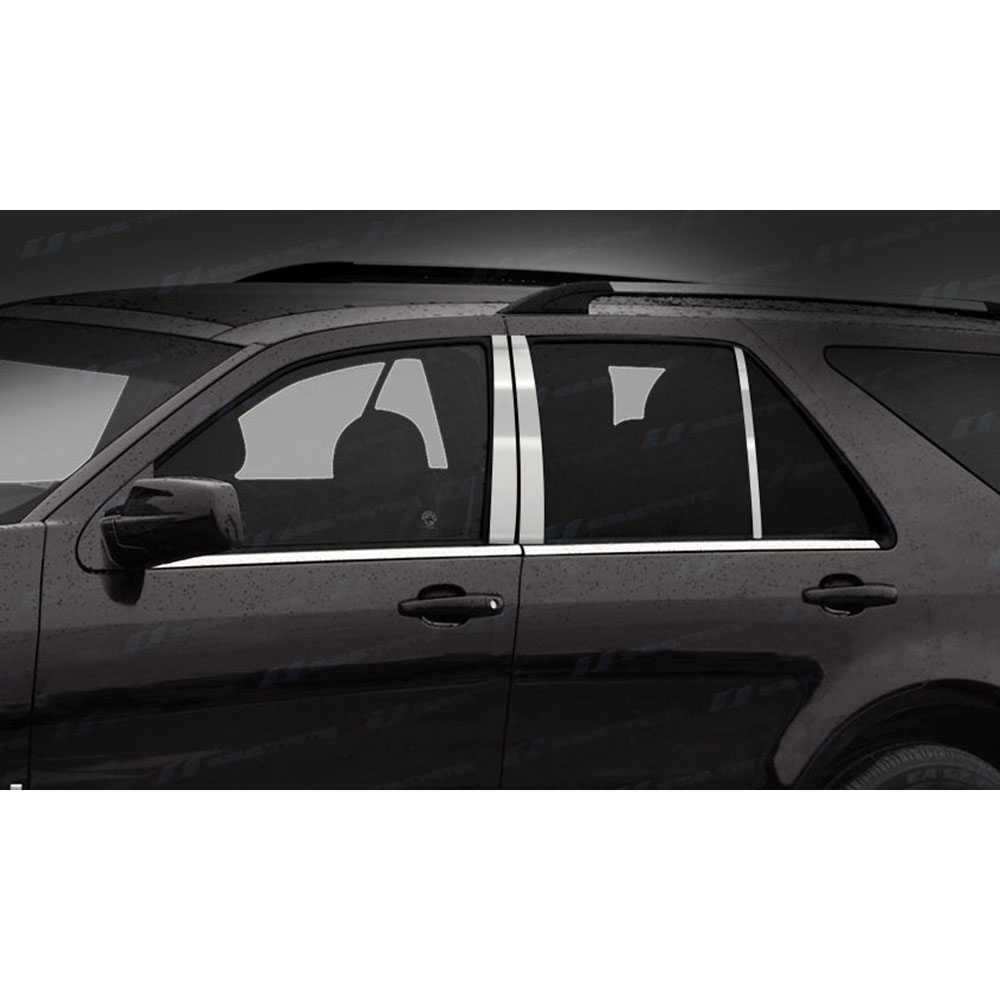 Chrome Pillar Posts fit Cadillac SRX//SRS 04-09 6pc Set Door Trim Mirrored Cover