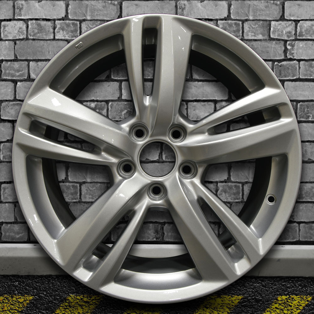 Full Face Bright Medium Silver OEM Wheel For 2013-2015