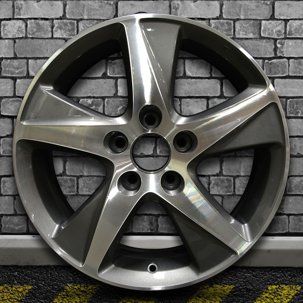 Machined Bright Metallic Charcoal OEM Wheel For 2009-2014