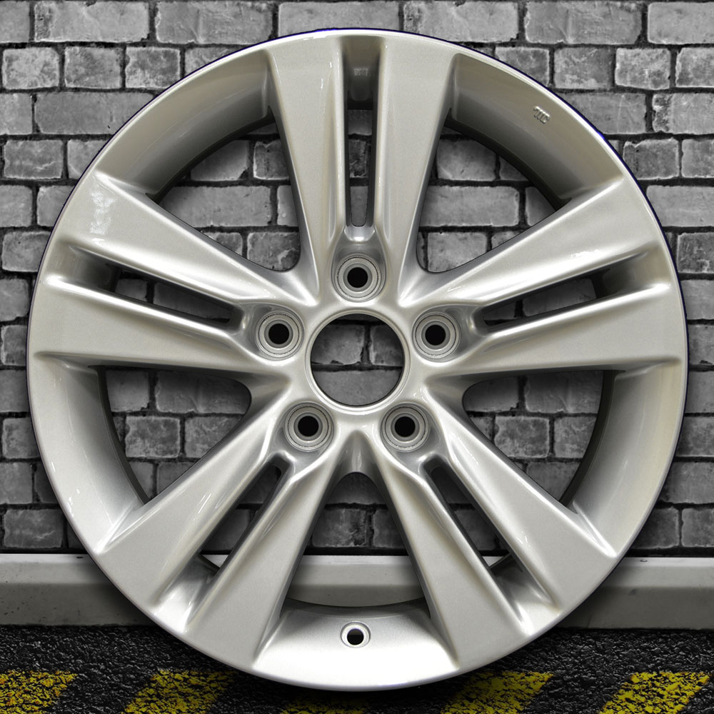 Full Face Bright Medium Silver OEM Wheel For 2013-2014