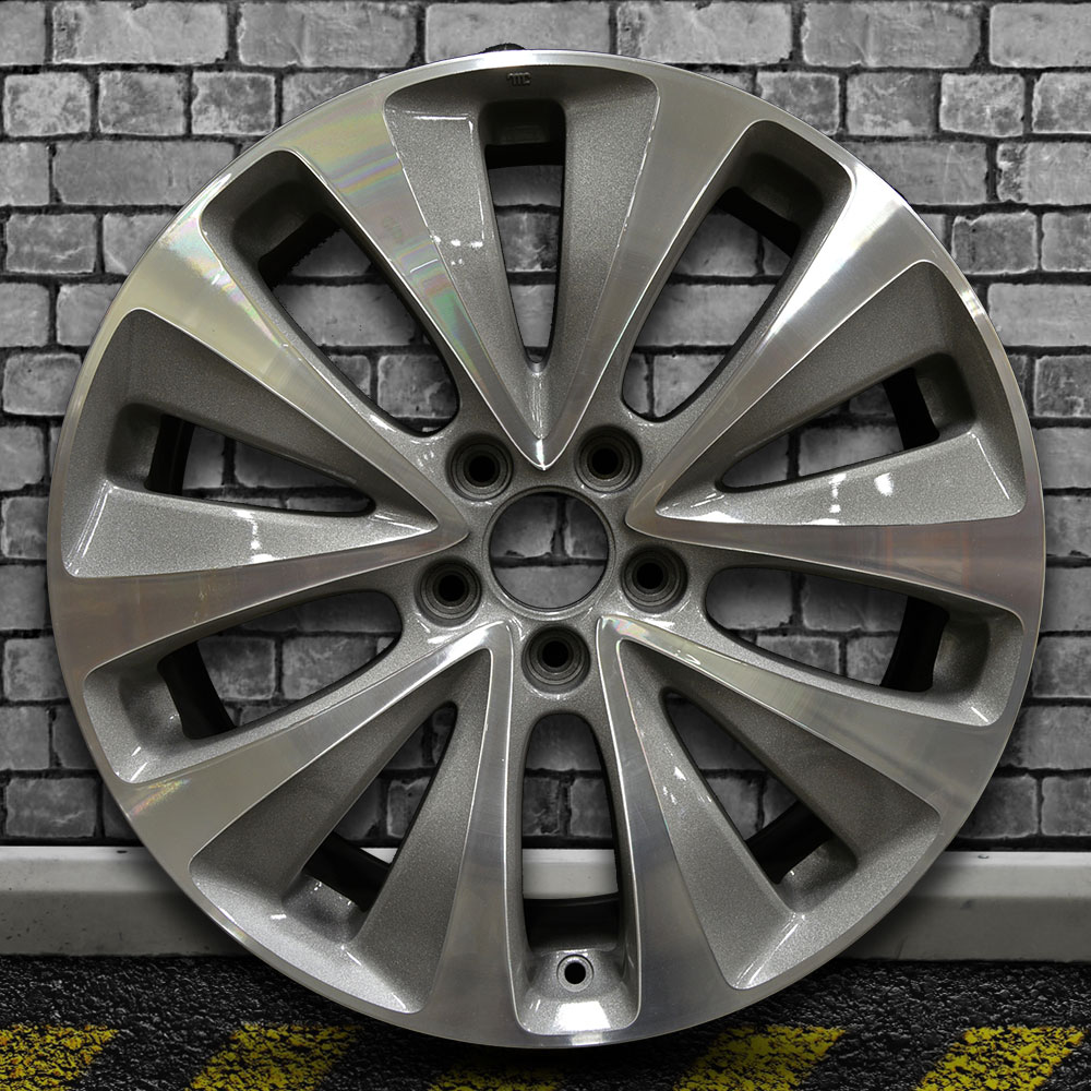Machine Texture Medium Charcoal OEM Factory Wheel For 2014