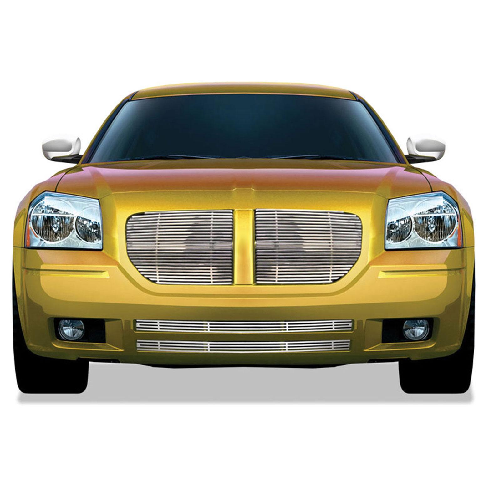 Fits 2005-2007 Dodge Magnum Bumper Stainless Steel Billet Grille Insert