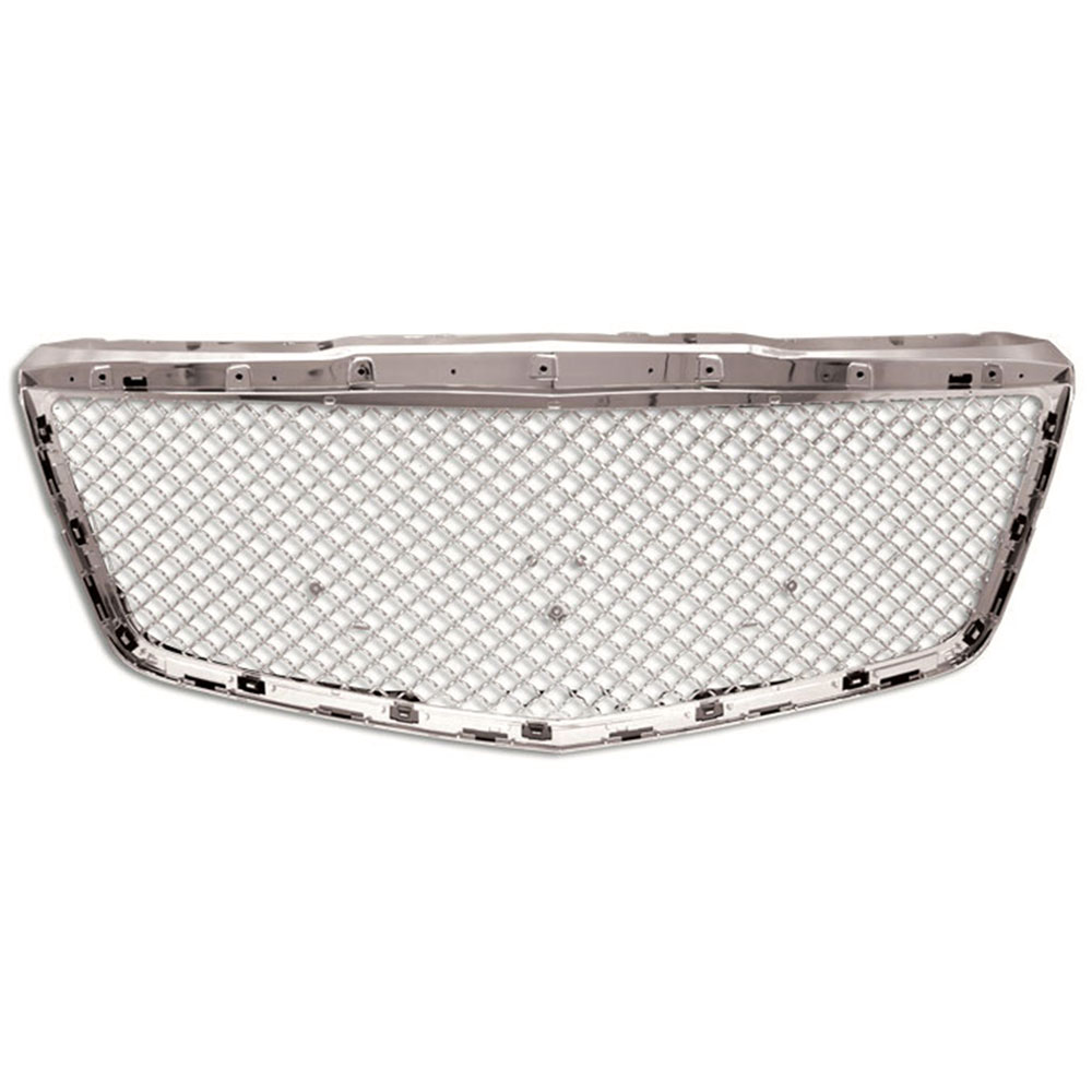 Mesh Replacement Grille Fits 14-16 Cadillac CTS [Chrome