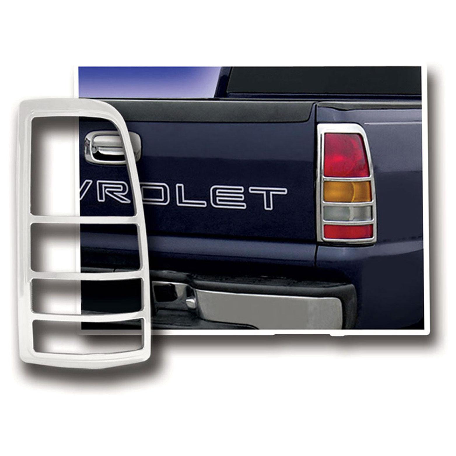 Upgrade Your Auto Premium FX Chrome Tail Light Bezels for 1999-2006 GMC Sierra Fleetside
