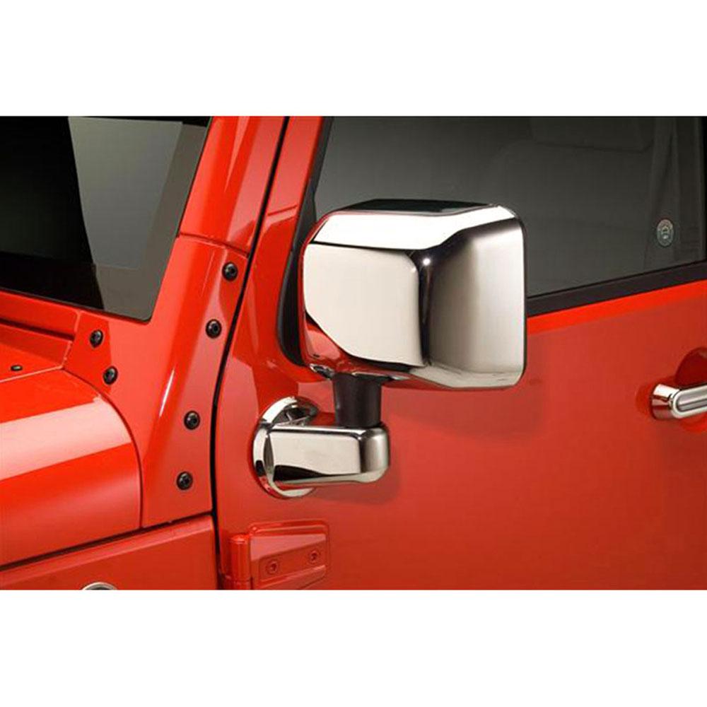 For 2007-2015 Jeep Wrangler JK Chrome Full Mirror Cover