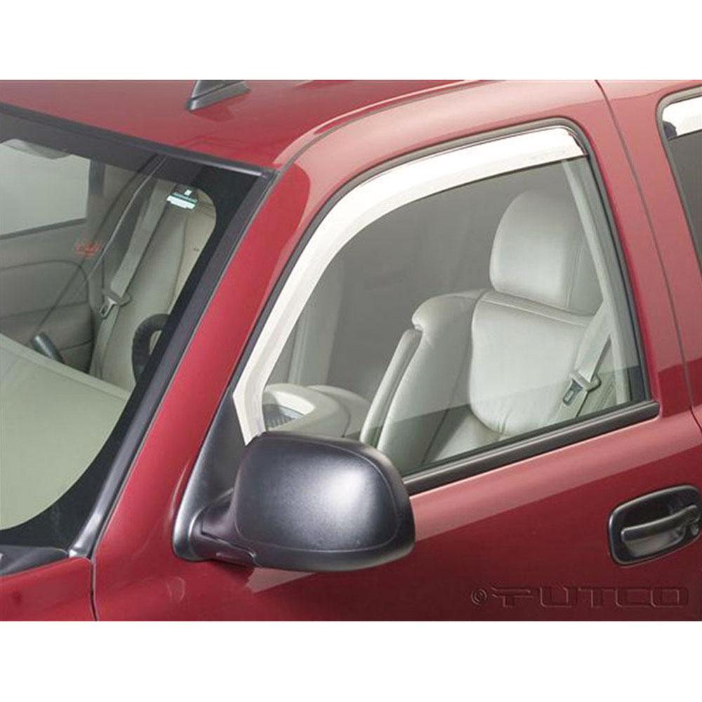 2pc Chrome Front Window Visor Set For 02-06 Sierra