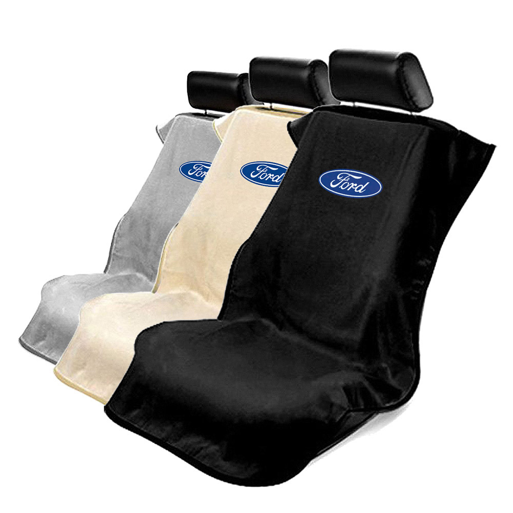 Tan Terry Cloth Seat Armour Front Car Seat Cover For Ford