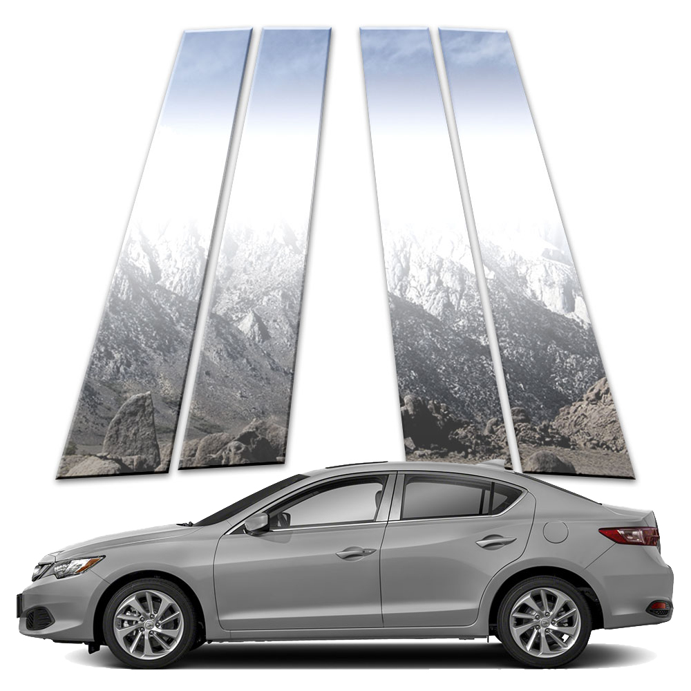 4p Stainless Pillar Post Covers Fits 2013-2019 Acura ILX