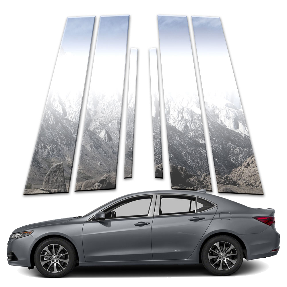 6p Stainless Pillar Post Covers Fits 2015-2019 Acura TLX