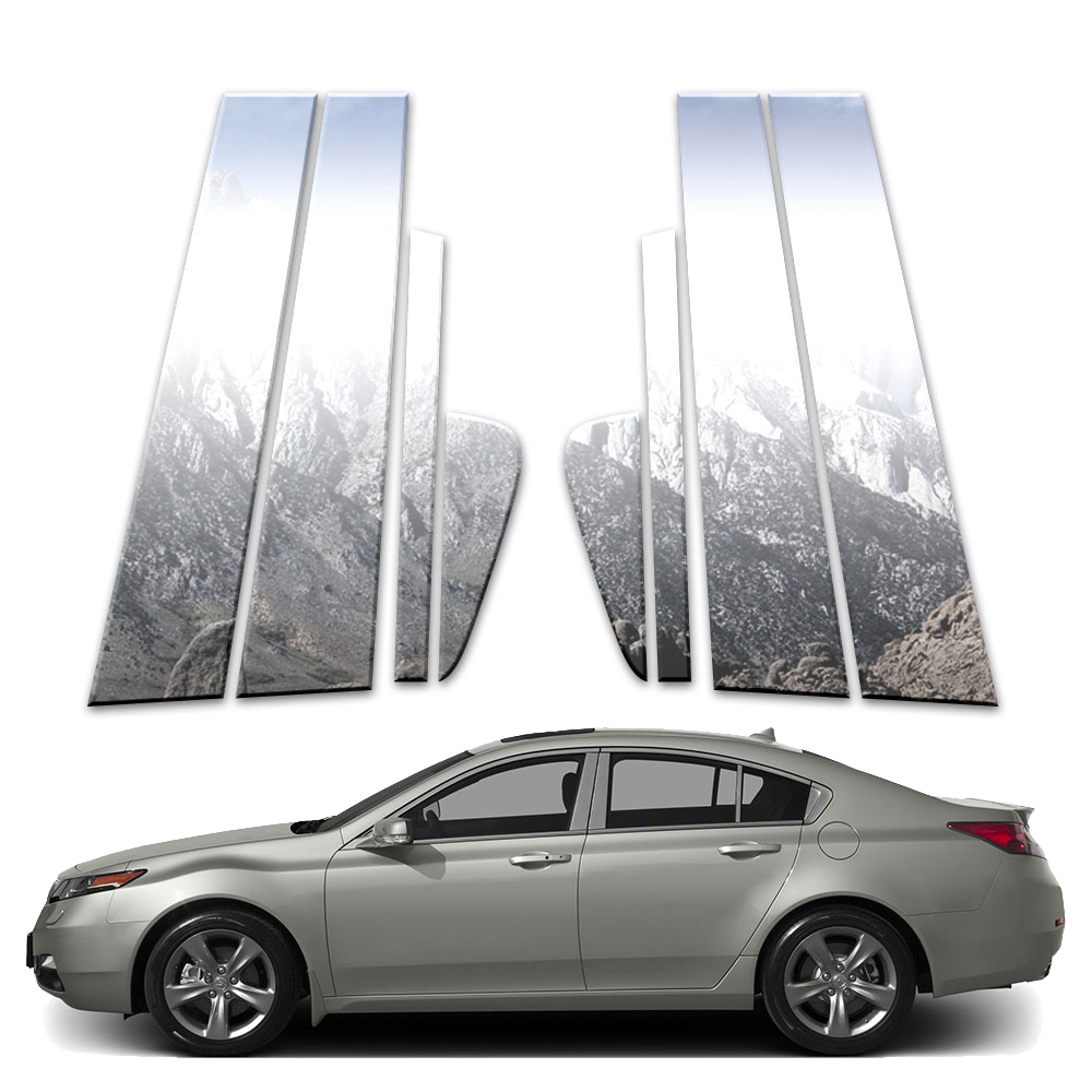 8p Stainless Pillar Post Covers Fits 2009-2019 Acura TL By