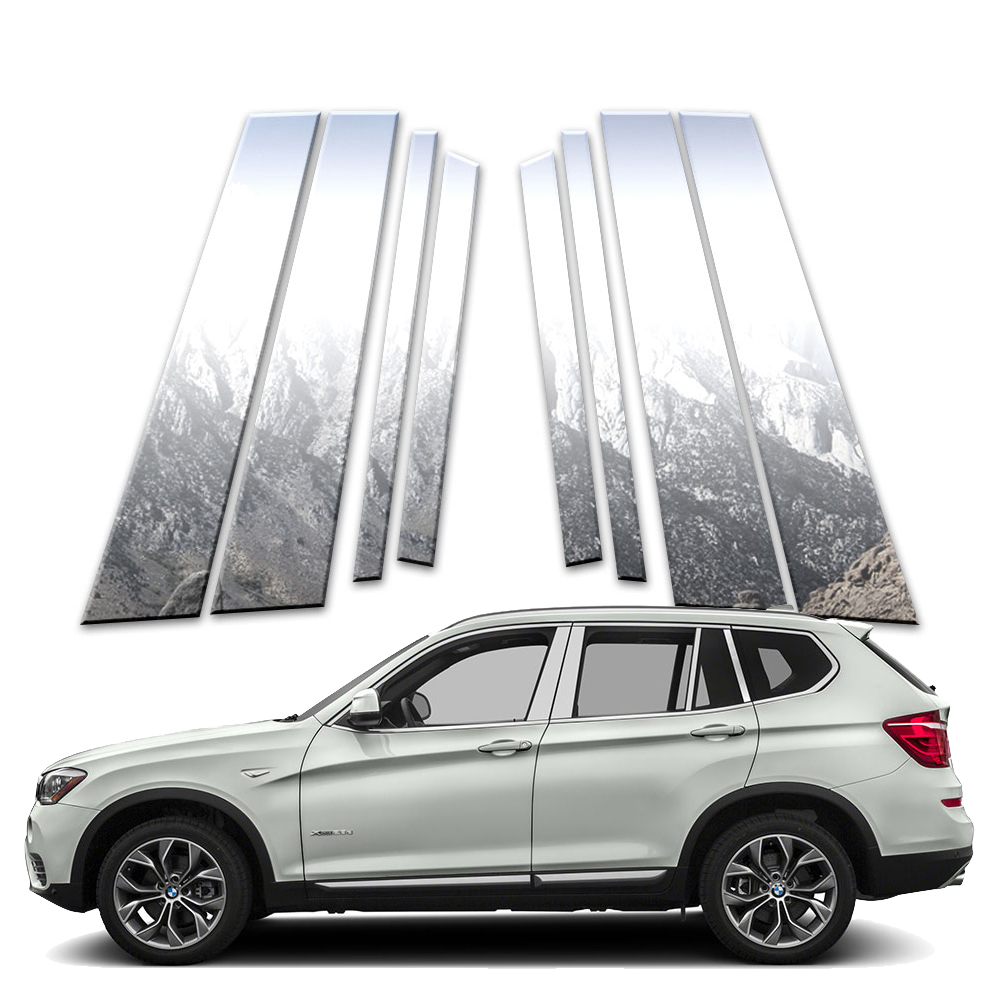 8p Stainless Pillar Post Covers Fits 2011-2017 BMW X3 By