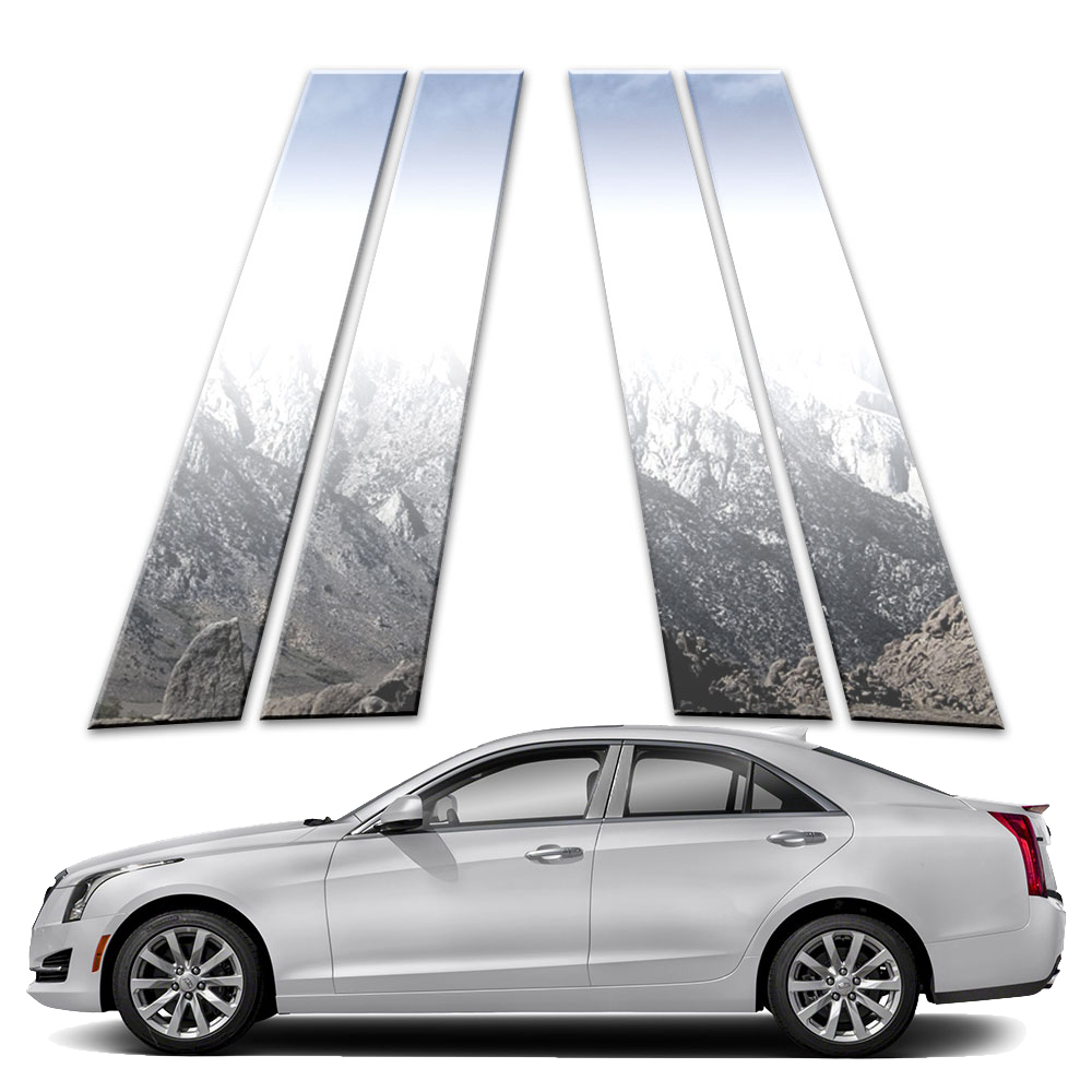 4p Pillar Post Covers Fits 2013-2019 Cadillac ATS 4 Door