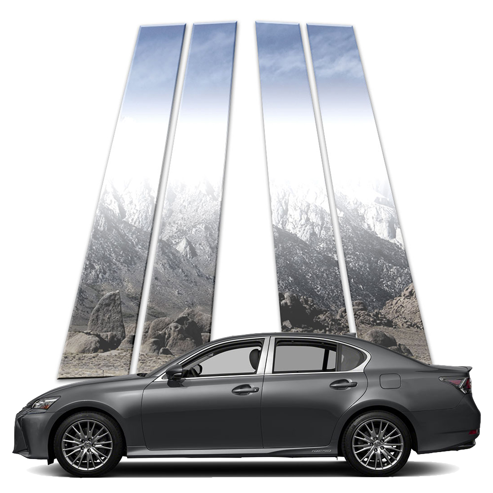 Chrome Pillar Post Covers for 2013-2019 Lexus GS 6 Pieces