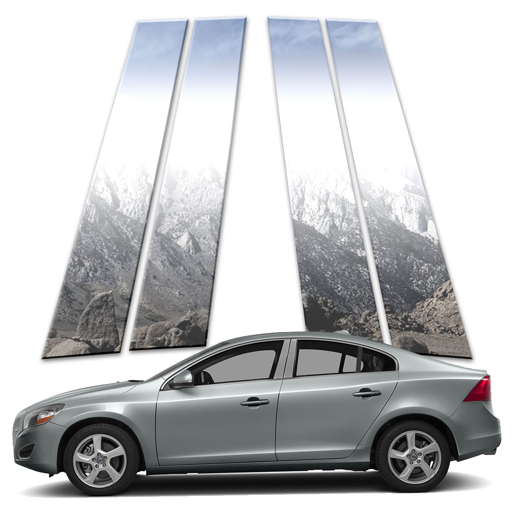 8p Stainless Pillar Post Covers fits 2003-2015 Volvo XC90 by Brighter Design